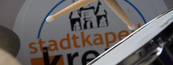 Kleine Trommel mit Logo Stadtkapelle Krems